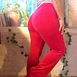 Bright Red Velour Lounge Pants